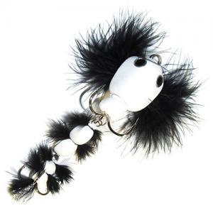 Мандула имитация бычка с перьями белая