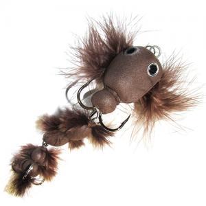 Мандула имитация бычка с перьями коричневая