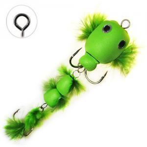 Мандула имитация бычка с перьями зеленая