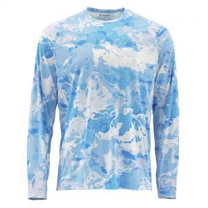 Блуза Simms SolarFlex Crewneck Prints Cloud Camo Blue L