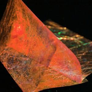Пленка блестящая SYBAI Fine Flash Back - Salmon [Оранжево-розовый]