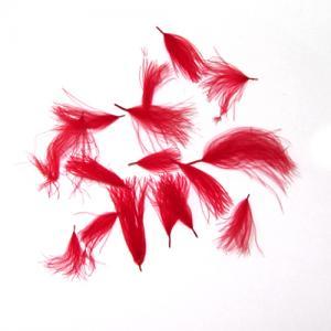 Перья утки WAPSI C.D.C Puffs - Red [Красный]
