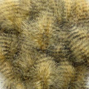 Перья марабу гризли HENDS Grizzly Marabou - Lt. Olive Black [Светло-оливково-черный]