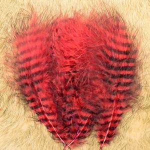 Перья марабу гризли HENDS Grizzly Marabou - Red Black [Красно-черный]