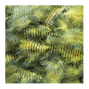 Перья марабу гризли HENDS Grizzly Marabou - Yellow Black [Желто-черный]