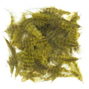Полосатые мелкие перья марабу WAPSI GRIZZLY Marabou - Olive [Оливковый]