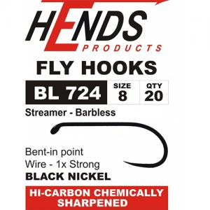Крючки HENDS Streamer Barbless BL 724/25