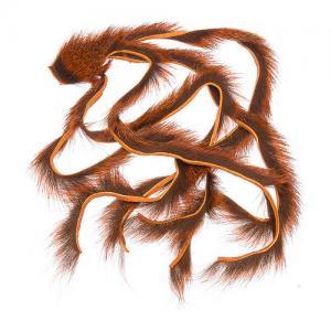Полоски меха белки WAPSI Micro Pine Squirrel Zonkers - Crawdad Orange [Оранжевый]