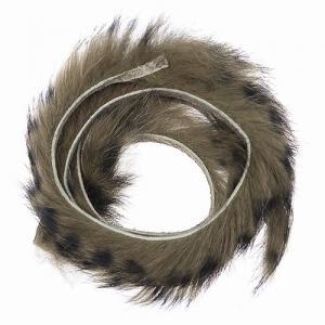 Полоски меха кролика полосатые HENDS Zonker Strip Barred - Dark Olive Black [Темно-оливковый черный]