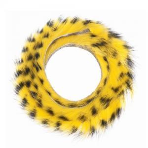 Полоски меха кролика полосатые HENDS Zonker Strip Barred - Yellow Black [Желто-черный]