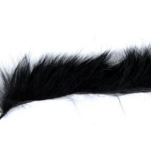Полоски меха кролика продольные STRIKE Rabbit Strip - Black [Черный]