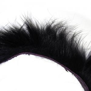 Полоски меха кролика продольные STRIKE Rabbit Strip - Dark Violet [Темно-фиолетовый]
