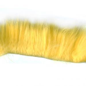 Полоски меха кролика поперечные STRIKE Rabbit Strip Crosscut - Yellow [Желтый]