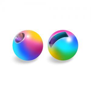 Вольфрамовые головки с вырезом STRIKE Tungsten Beads - Rainbow [Цветной]