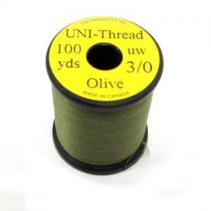 Монтажная нить UNI Thread 3/0 - Olive [Оливковый]