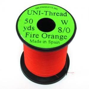 Монтажная нить UNI Thread 8/0 - Fire Orange [Огнено-оранжевый]