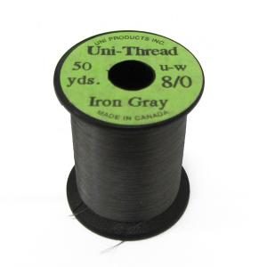 Монтажная нить UNI Thread 8/0 - Iron Gray [Серый]