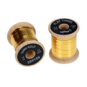 Плоский люрекс SYBAI Flat Tinsel - Dark Gold [Темно-золотой]