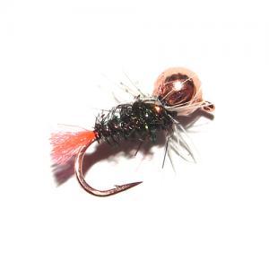 Мормышка вольфрам шар медь - Red Tail [Красный хвост]