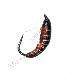 Мормышка имитация рачка бокоплава Woven Shrimp - Black [Черный]