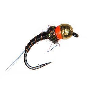 Нимфа с вольфрамовой головкой Tungsten Black Mayfly