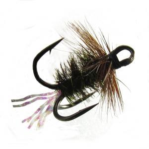 Муха на тройнике Treble Peacock Brown распродажа)
