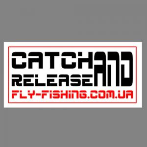 Наклейка на авто CATCH AND RELEASE Black/Red